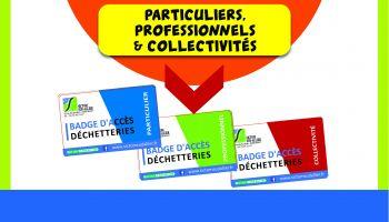 badge d'accès aux déchetteries de Varennes-sur-Allier et Saint-Prix